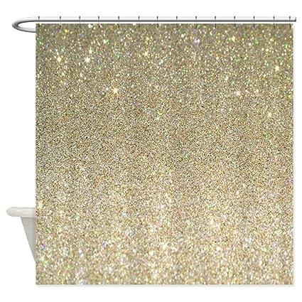 Amazon CafePress Art Deco Gold Glitter Decorative Fabric Shower