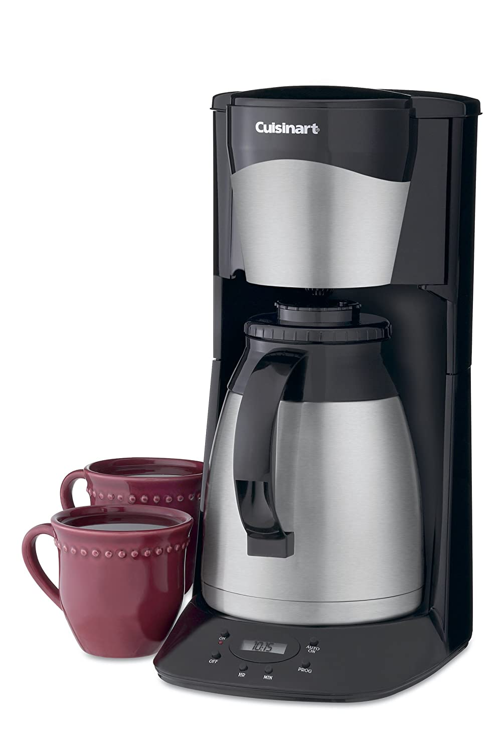 Coffee maker with grinder and thermal carafe - Amazon Com Cuisinart Dtc 975bkn 12 Cup Programmable Thermal Brewer Black Drip Coffeemakers Kitchen Dining