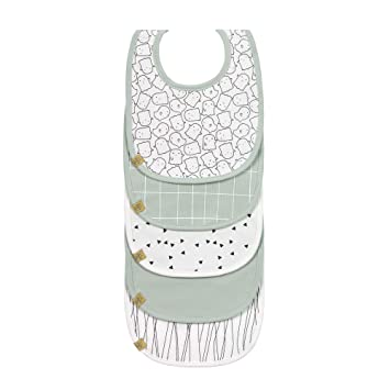 5 Stk. L/ÄSSIG Baby Kleinkind L/ätzchen Set Klettverschluss Baumwolle wasserdicht//Value Pack Bib Bash
