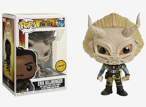 Erik Killmonger Black Panther FUNKO POP Bobble-Head Vinyl NEU 386