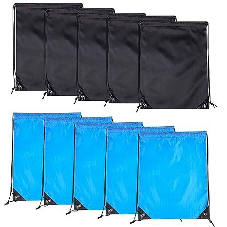 Amazon.com: 10 bolsas con cordón para mochila, bolsa ...