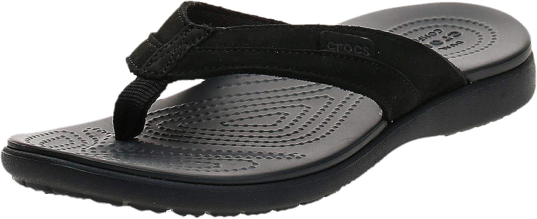Crocs Men's Santa Cruz Canvas Flip Flop | Sandals for Men | Slip On Shoes