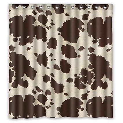 Amazon Crystal Emotion Luxury Fabric Shower Curtain Brwon