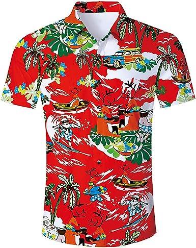 Cocoty-store 2019 botón de la Camisa Hawaiana de los Hombres ...