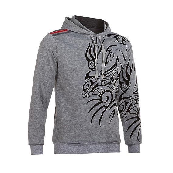 Sudadera Casual para Hombre con Capucha Estampado de tótem Chaqueta con Capucha suéter: Amazon.es: Ropa y accesorios