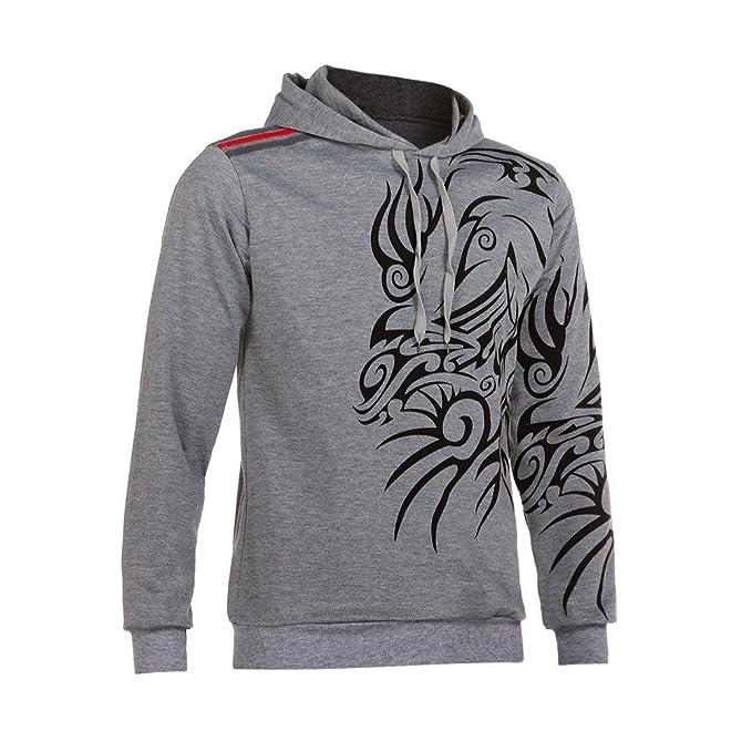Yanhoo suéter Hombre Storm Sudadera con Capucha de Manga Larga Impresa otoño Invierno de los Hombres