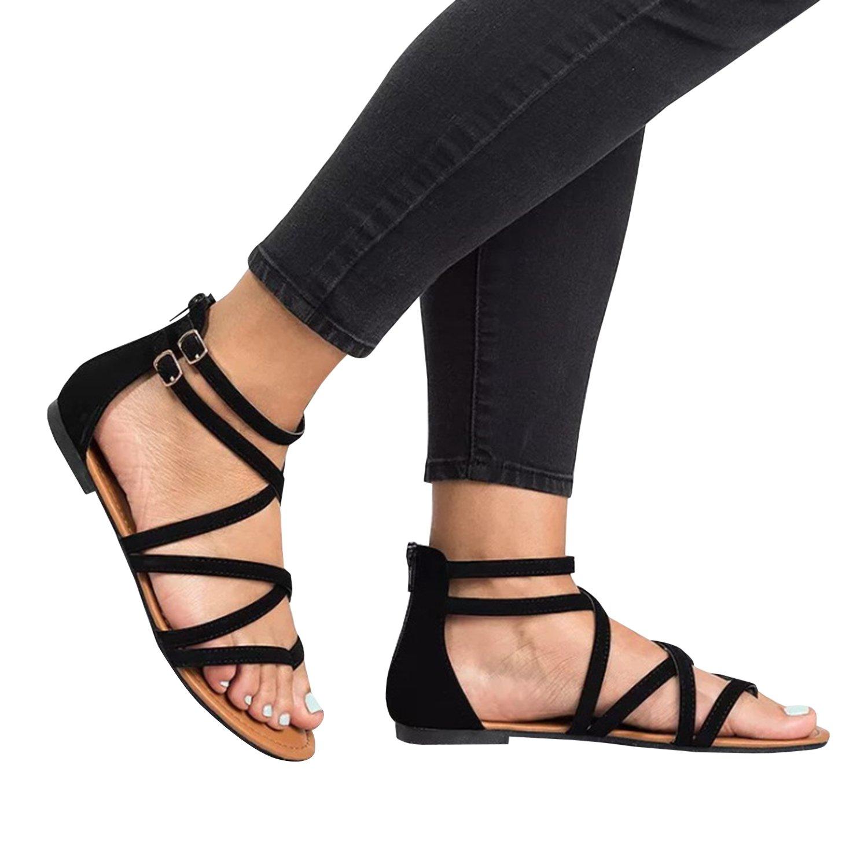 0dacc30d4fc Amazon.com  Huiyuzhi Womens Flip Flop Gladiator Flat Sandal Fisherman Sandal   Shoes