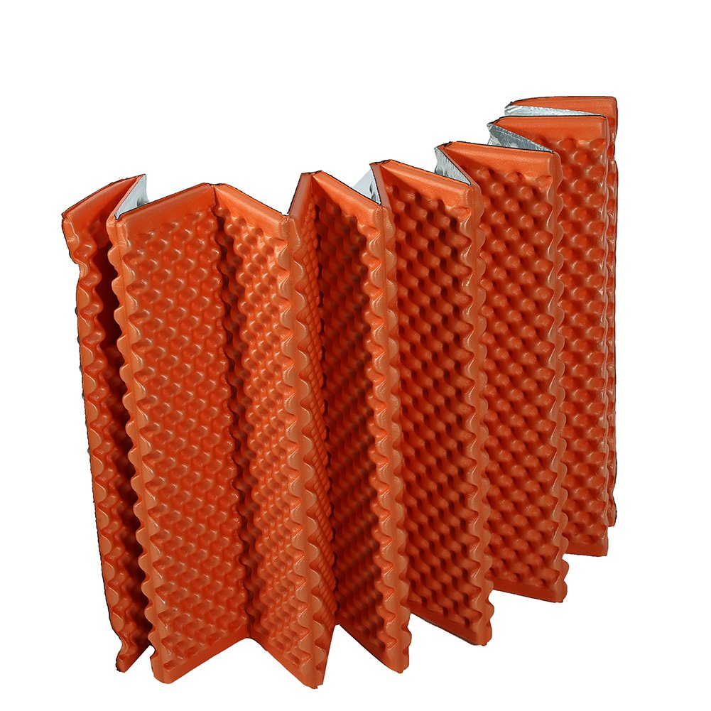 Tbest Folding Camping Mattress Sleeping Pad Mat Picnic Beach Seat Pad, Outdoor Foldable Proof Moisture Camp Mat Blanket Sleeping Pad Mattress Foam Pad Picnic Pad Cushion for Camping Hiking (Orange) by Tbest