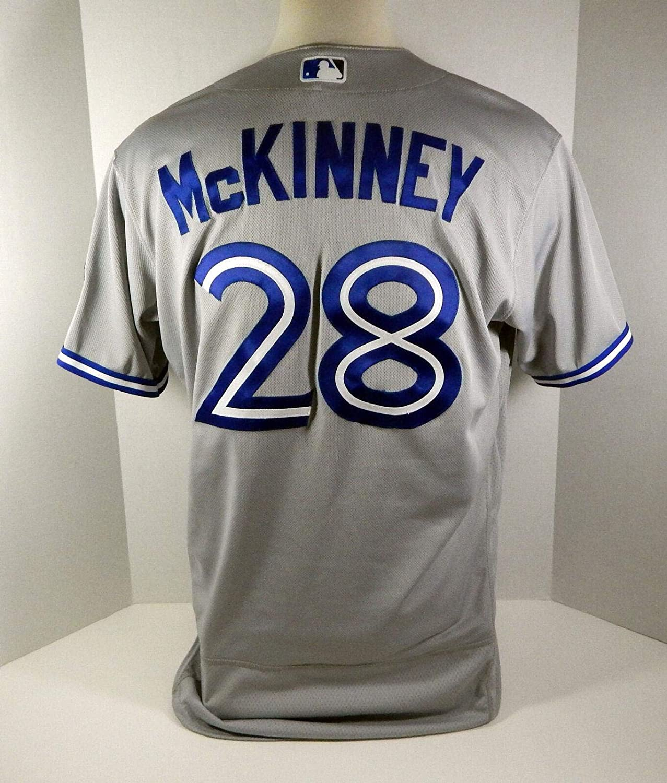 separation shoes eeb02 b102c 2018 Toronto Blue Jays Billy McKinney #28 Game Issued Grey ...