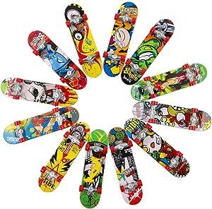 HEHALI 12 PCS Fingerboard Professional Mini Finger Skateboard for Kids Birthday Gifts