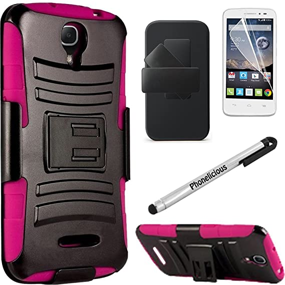 buy online 5253e 461ae ALCATEL ONETOUCH PIXI CHARM Case, Phonelicious® Alcatel Pixi Charm LTE  A450L [Rugged] [Heavy Duty] Xtreme Hybrid Armor Dual Layer Kickstand Belt  ...