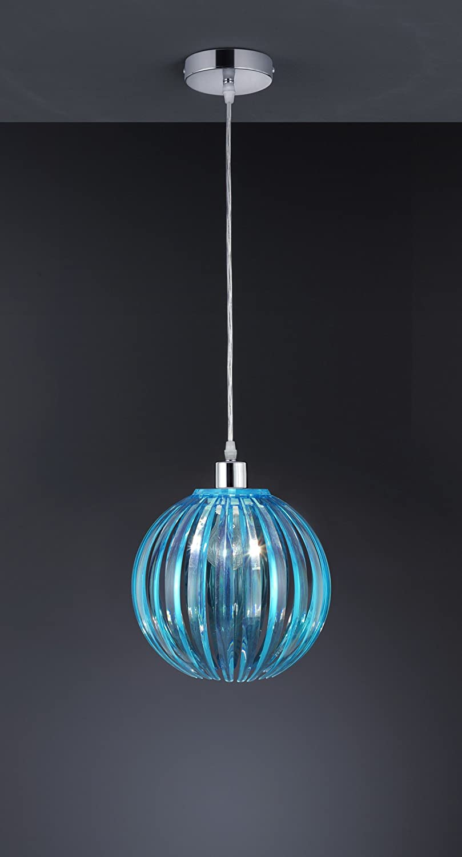 Trio Lighting 304000115 Lámparas E27, Turquesa, Colgante de 150 x 29 cm