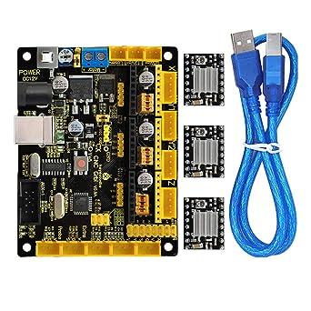 Kit de controlador de impresora 3D para Arduino con CNC Shield V0.9A, 4