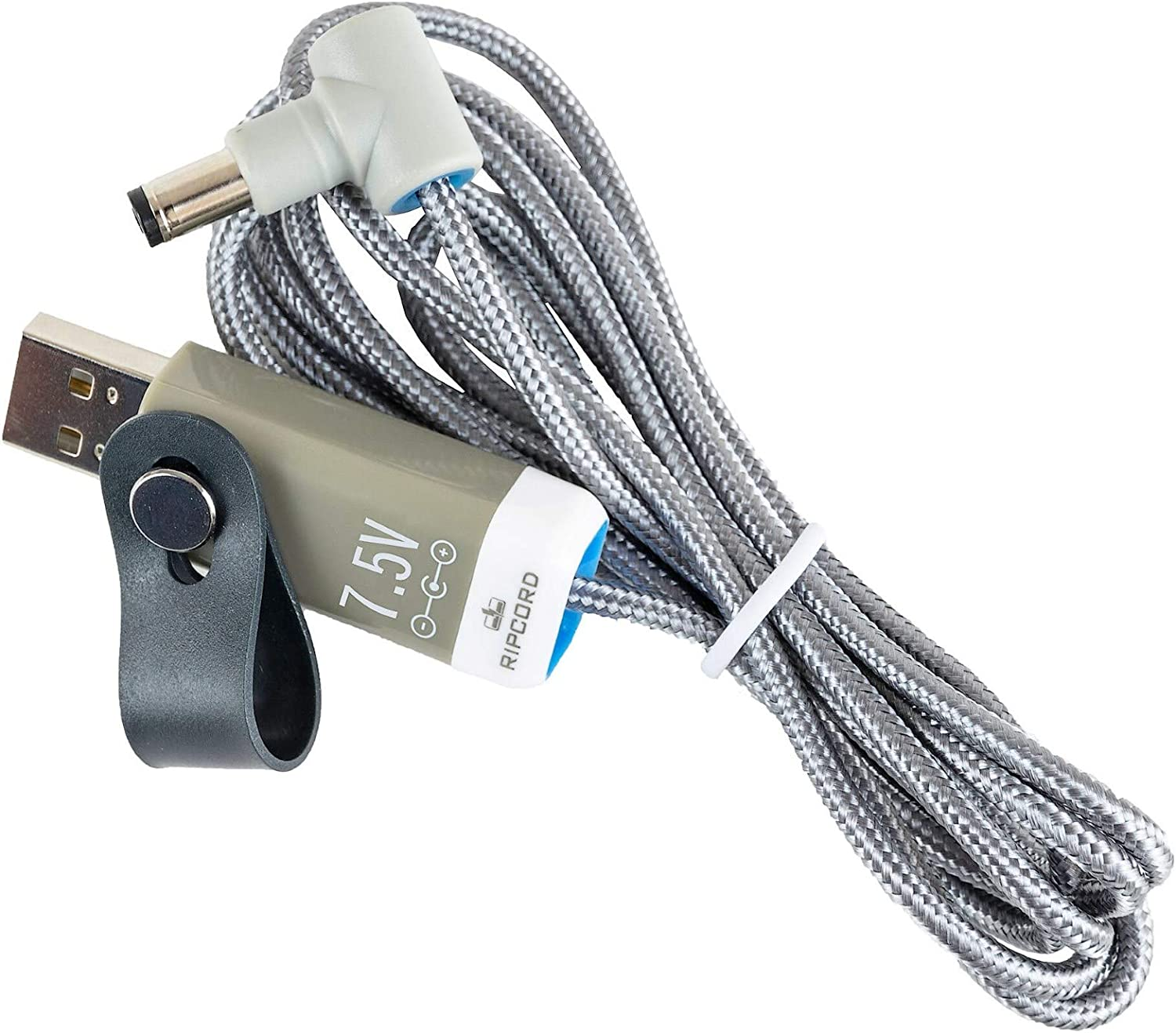 USB to 7.5V DC Power Cable Compatible with The Brother P-Touch 25 Label Printer myVolts Ripcord