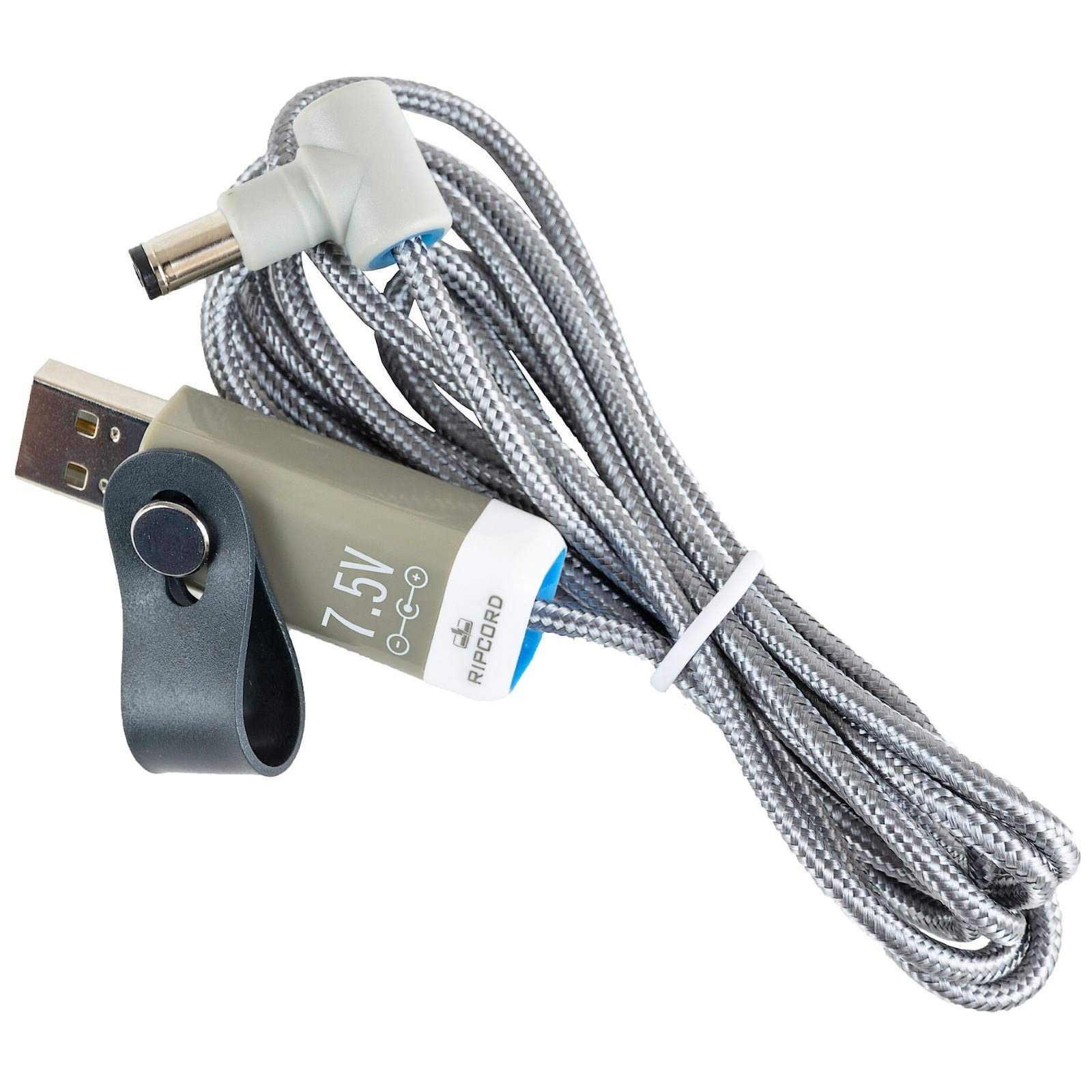 myVolts Ripcord - USB to 7.5V DC Power Cable Compatible with The Philips Avent SCD536 Baby Baby Unit DECT Monitor by MyVolts