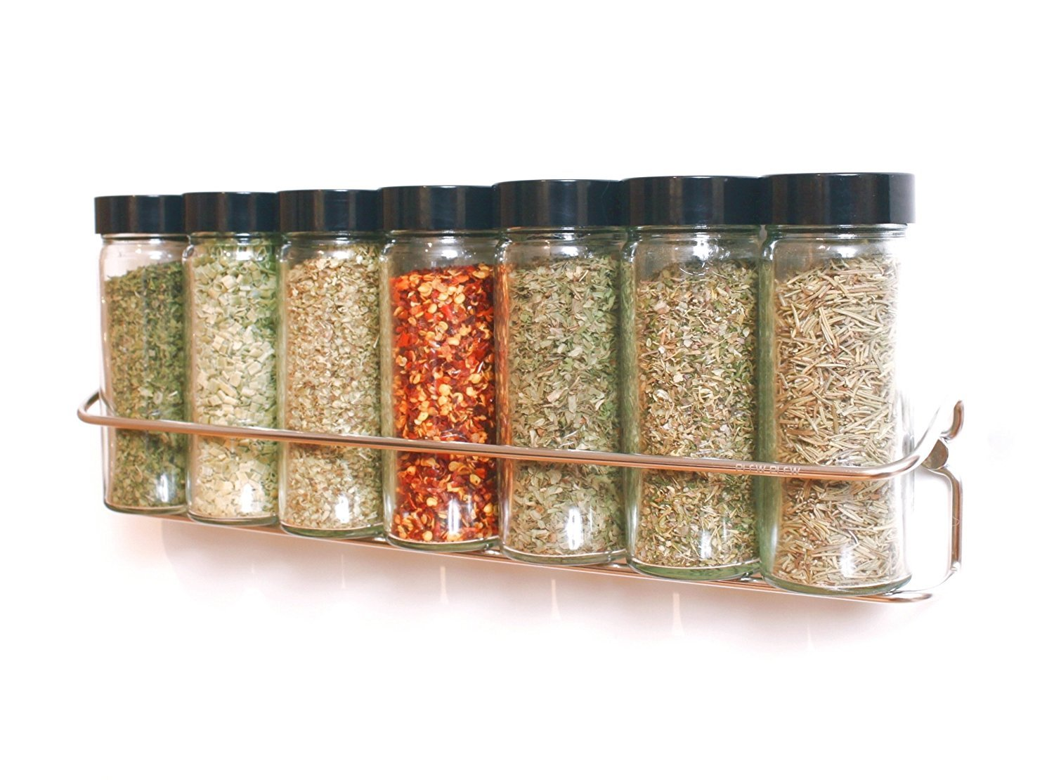Plew Plew - Spice Rack Stand Holder, stainless steel & wall mounted