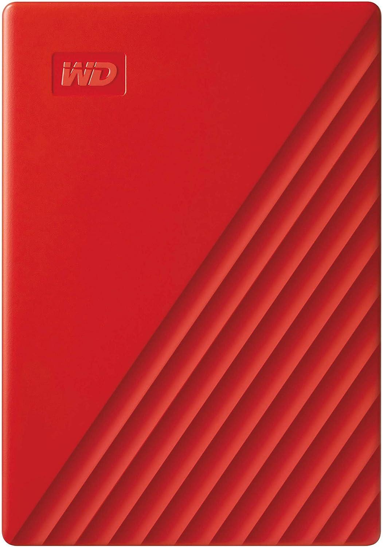 WD - My Passport 4To Rouge - Disque dur externe portable avec...