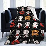 Betty Boop Blanket Luxury Cozy Fleece Throw Blanket Fit Living Room Couch Sofa for All Season