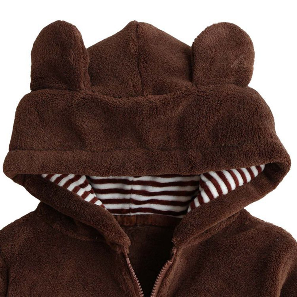 TAIYCYXGAN Unisex Baby Boys Girls Fleece Hoodies Toddlers Winter Warm Outwear Jacket Coat Zipper Sweater