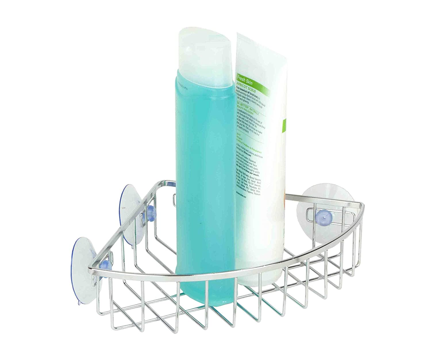 Amazon.com: Home Basics Suction Corner Caddy - Chrome: Home & Kitchen