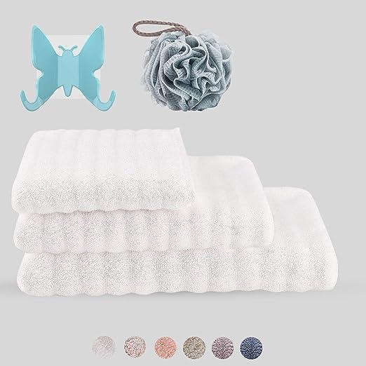 SXT - Juego de toallas de baño de algodón grueso 100 % algodón ...