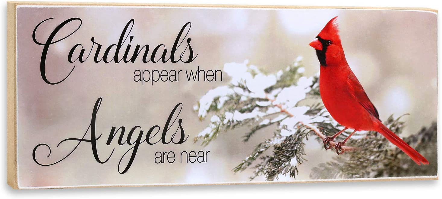 Cardinals Appear When Angels are Near Wall Plaque