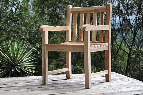 Sedie In Legno Con Braccioli : Sam poltrona da giardino in teak di legno massiccio sedia