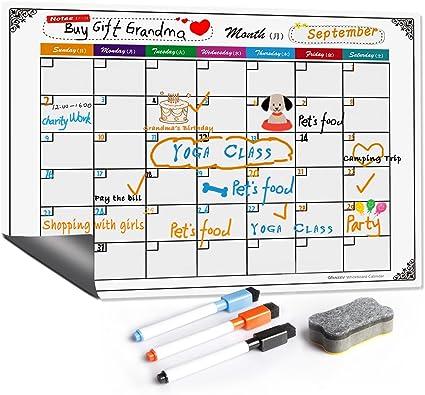 Amazon | VANZEV 月間予定表 磁気 ホワイトボード カレンダー ...