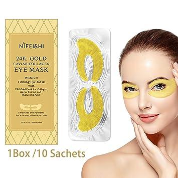 Amazon.com: Máscaras de tratamiento de ojos de oro de 24 ...