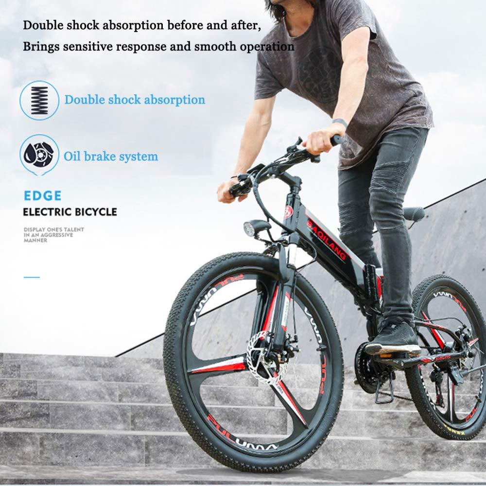 GTYW, Bicicleta Eléctrica Plegable, Bicicleta De Montaña, Ciclomotor Adulto, Bicicleta Eléctrica, Bicicleta De Montaña Todoterreno, 26 Pulgadas, ...