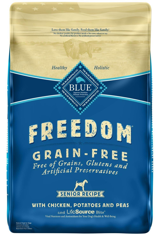 Blue Buffalo Freedom Grain Free Natural Senior Dry Dog Food, Chicken 24-lb