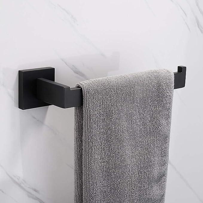 Schwarz Celbon SUS 304 Edelstahl Handtuchring Schwarze Oberfl/äche Handtuchstange Badezimmer und K/üche Handtuchhalter Wandmontage 21cm