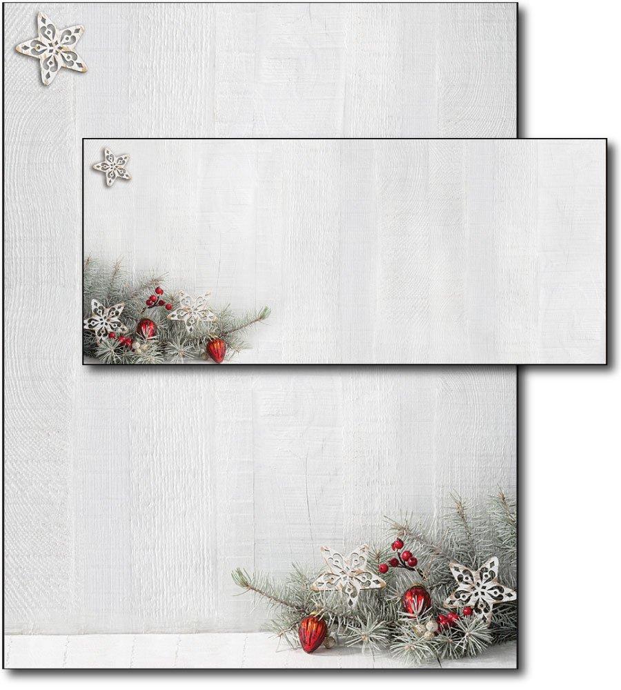 Woodsy Pine Letterhead & Envelopes - 40 Sets by Desktop Publishing Supplies, Inc.