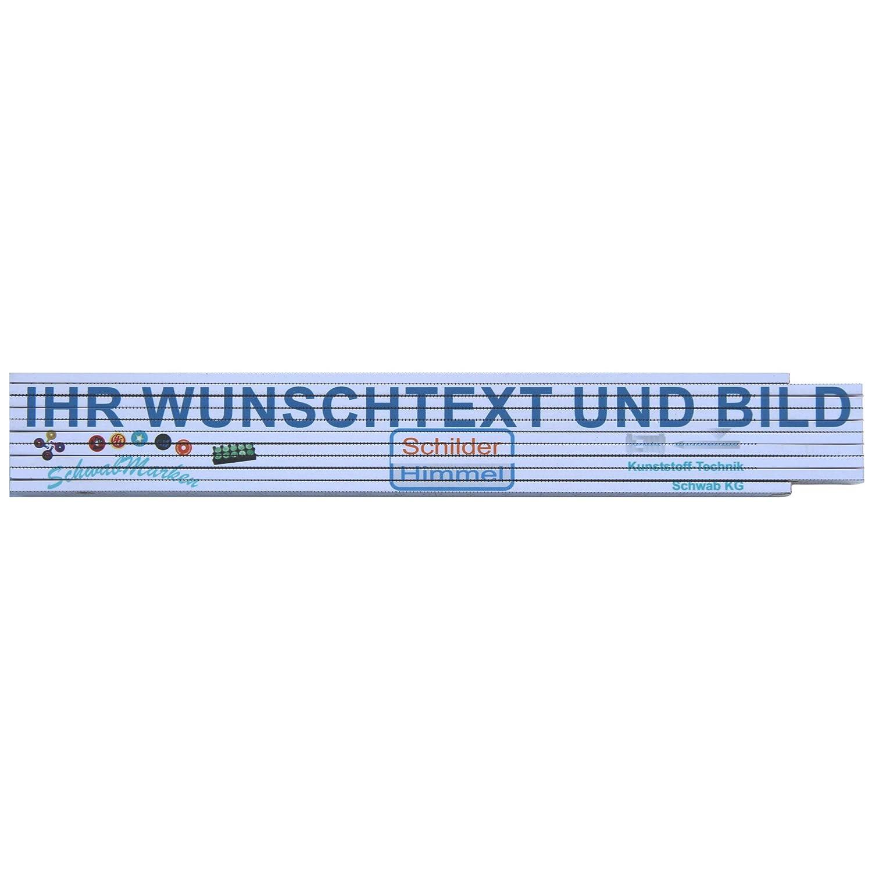 Meterstab als pers/önliches Geschenk Meterstab mit Wunschtext//Wunschbild//Logo Zollstock mit Druck