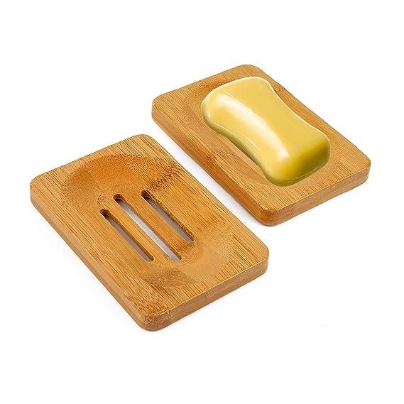 Vegena Jabonera de Madera (2 Unidades), jabonera de bambú Natural, jabonera, jabón, Esponja, Soporte para Ducha, Cuarto de baño: Amazon.es: Juguetes y ...