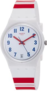Swatch Rosalinie White Dial White Silicone Strap Ladies Watch GW407