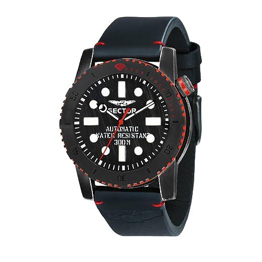 SECTOR Reloj Analógico para Hombre de Automático con Correa en Cuero R3221598001: Amazon.es: Relojes