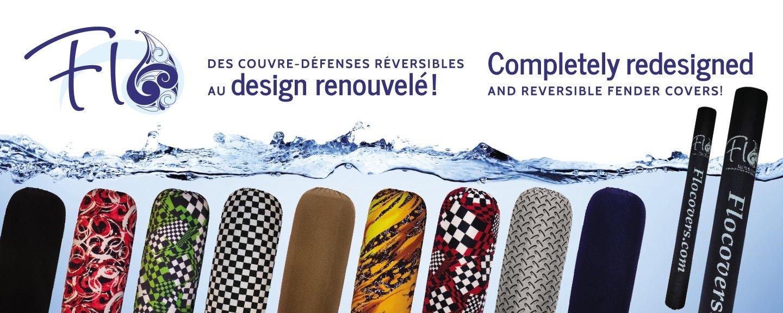 Boat Fender Covers Reversible Borealis