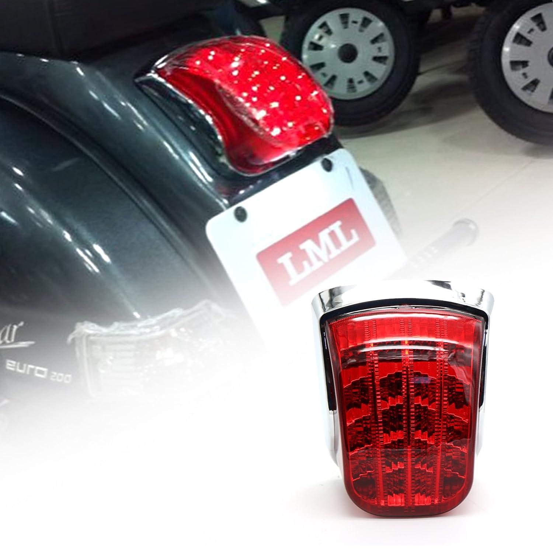 Amazon.com: LED Tail Light Vespa PX 125 150 200 LML Star/NV 2 STROK/NV 4 STROKE/STAR EURO 200/STAR EURO 150: Automotive