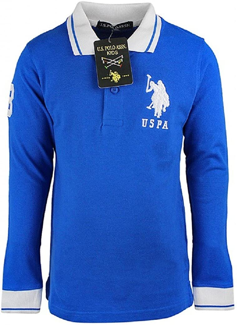 Camiseta de manga larga con cuello USPA para niño, de algodón ...