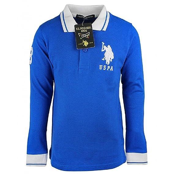 US Polo - Polo - Polo - Básico - con Botones - para niño Azul Azul ...