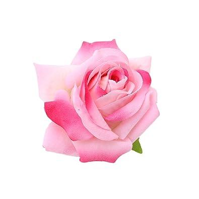Sanjog floral pink velvet rose kids hair flower clip and pin brooch sanjog floral pink velvet rose kids hair flower clip and pin brooch for kids mightylinksfo