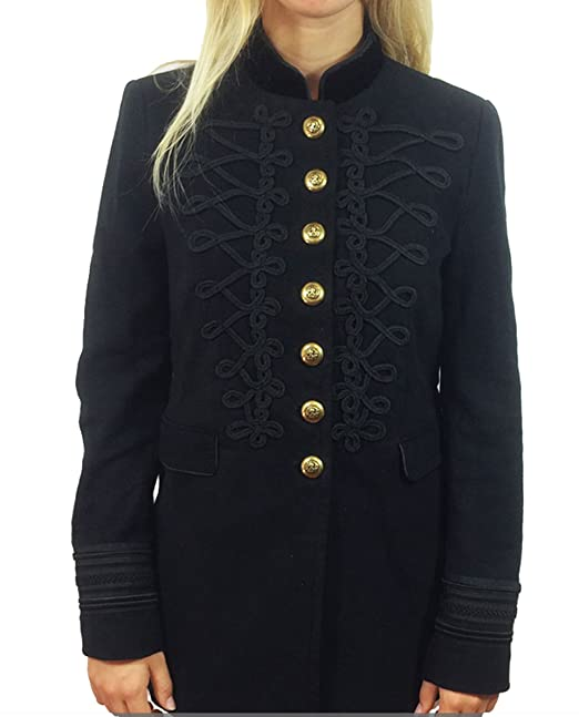 Zara de las mujeres militares chaqueta 7845/659: Amazon.es ...