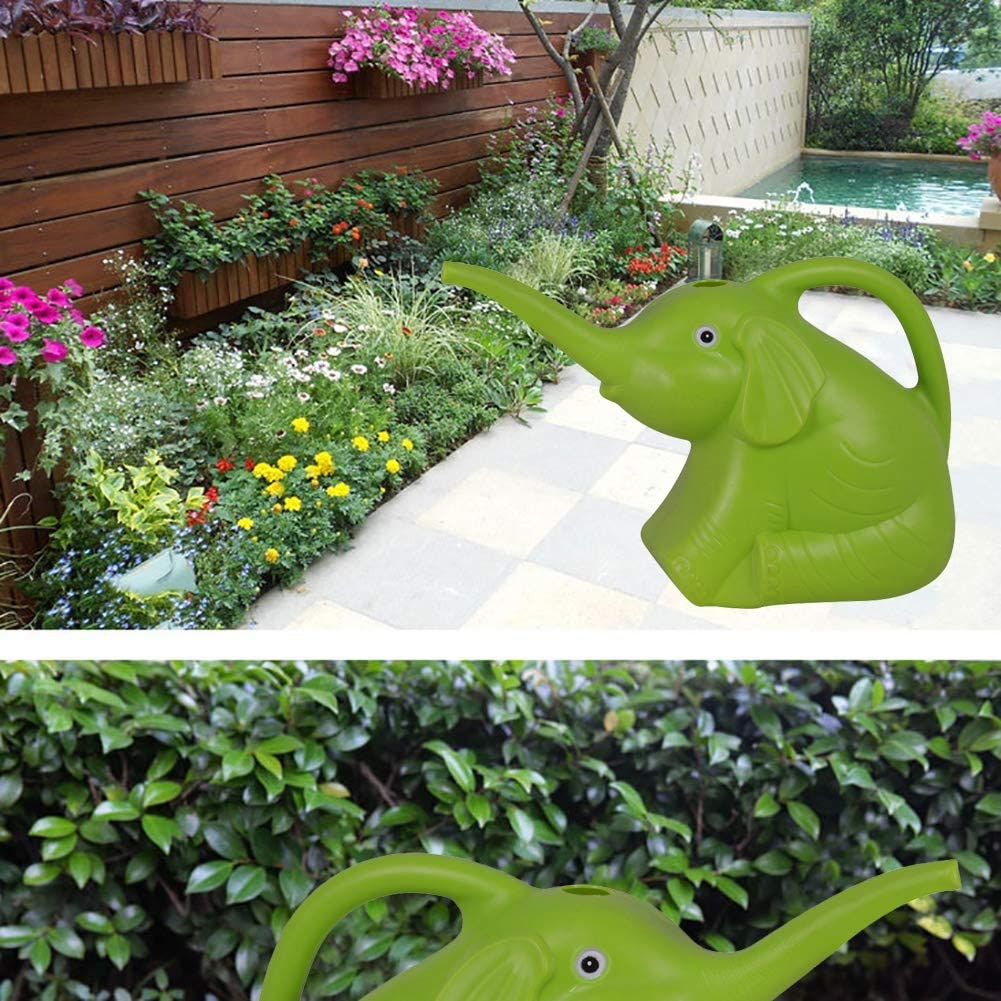 Decorative and Functional Watering Can Green Novelty Indoor Watering Can FAIRYLOVE Elephant Watering Can 0.5 Gallons