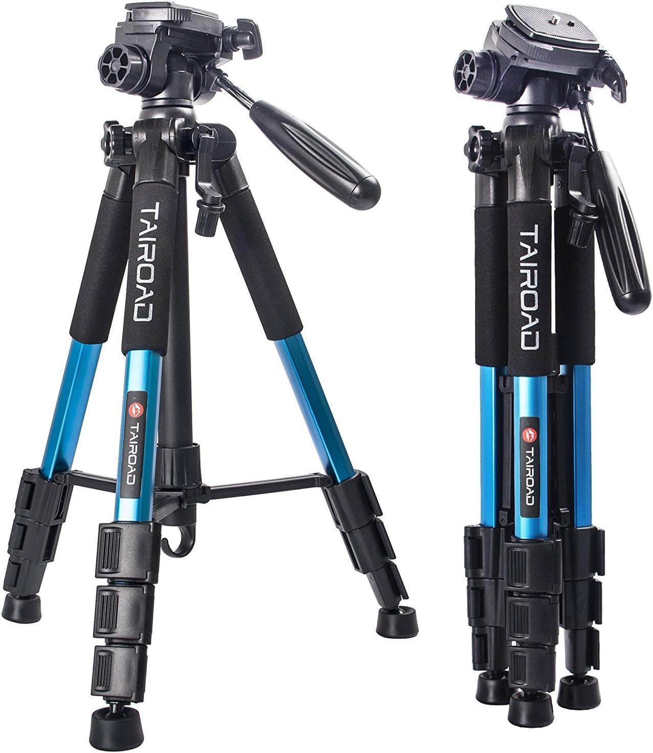 Trípode ligero - Trípode compacto para cámara de 140cm con cabezal ...
