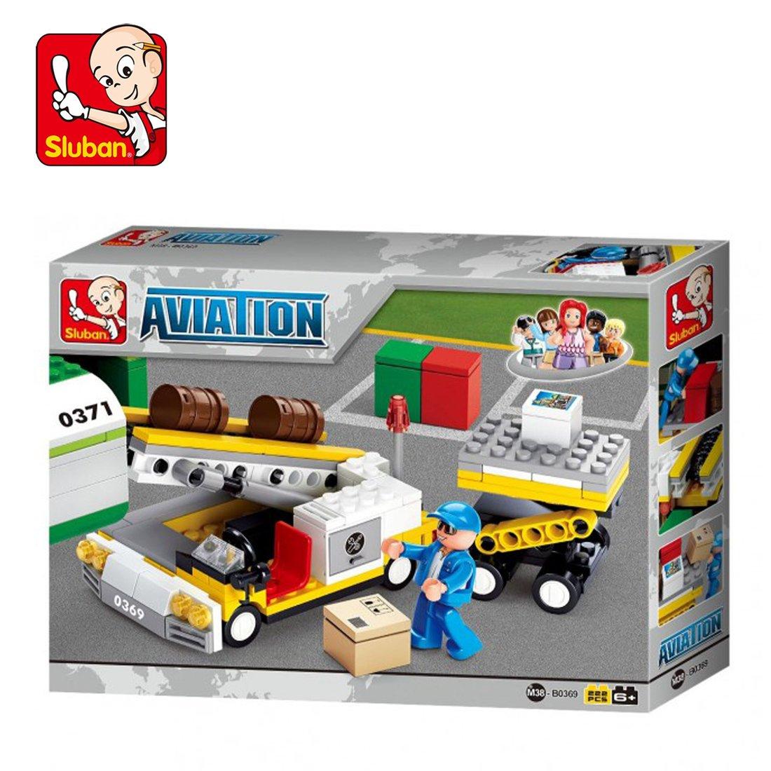 Sluban SlubanM38-B0369 Aircraft Cargo Loader Building Bricks Set