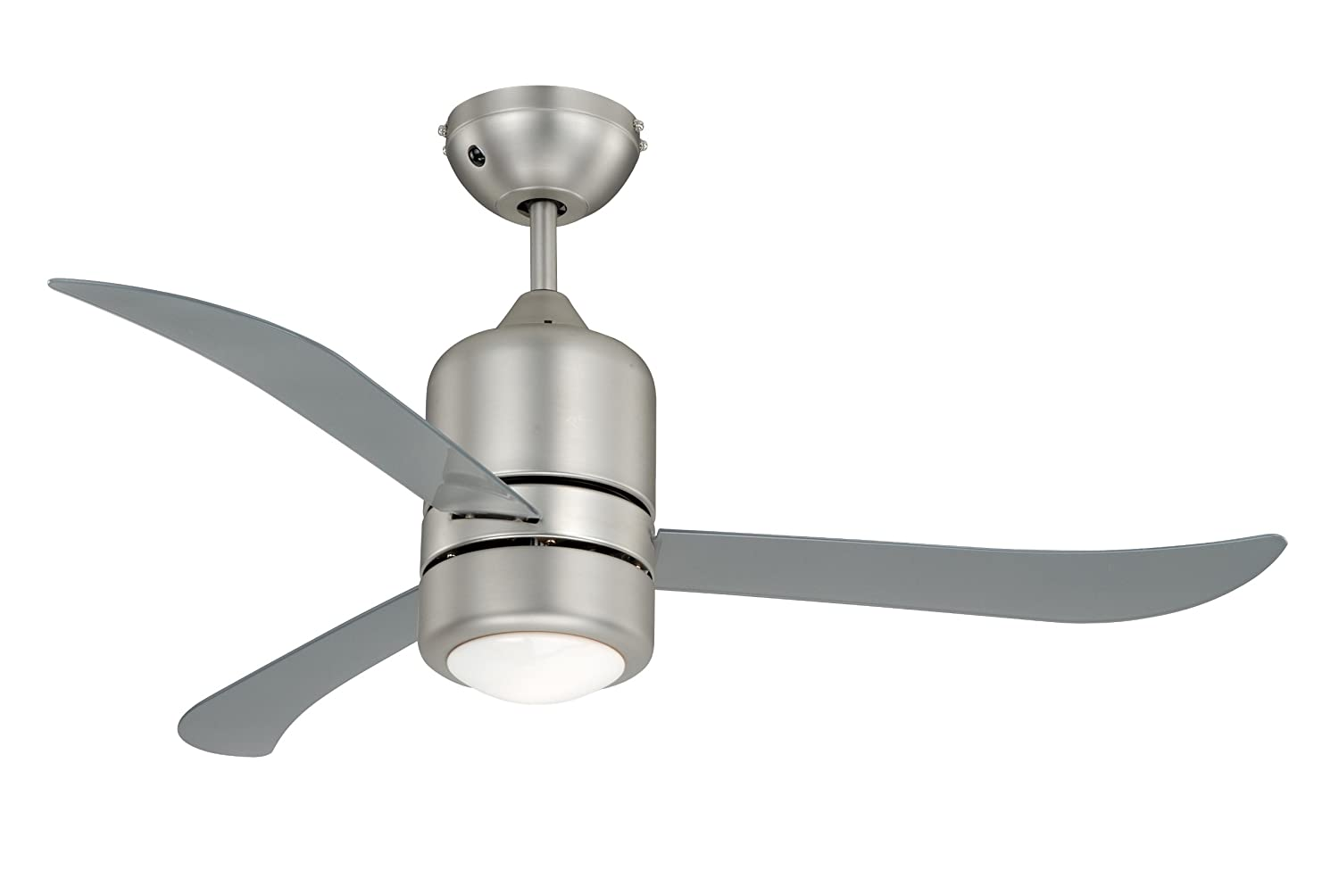 "AireRyder Ceiling Fan Loft Nickel - Clear with Lighting and Remote Control 44"" 112cm FN51133"