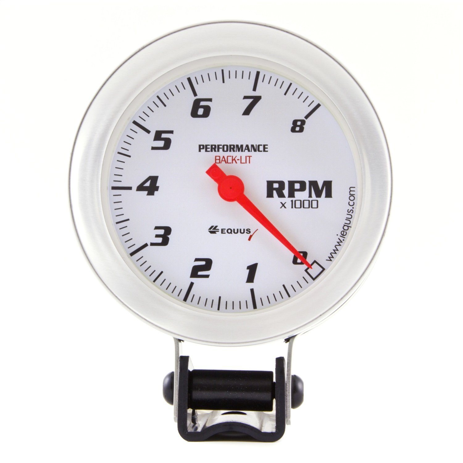 "Amazon.com: Equus 8068 3-3/8"" Tachometer (DIS), White with Aluminum Bezel:  Automotive"