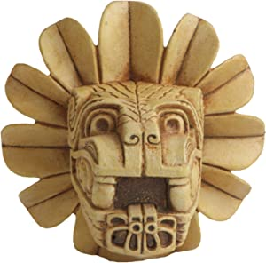 """Culture Spot Wall Hanging of Feathered Serpent Head of Quetzalcoaltl with Stone Finish 