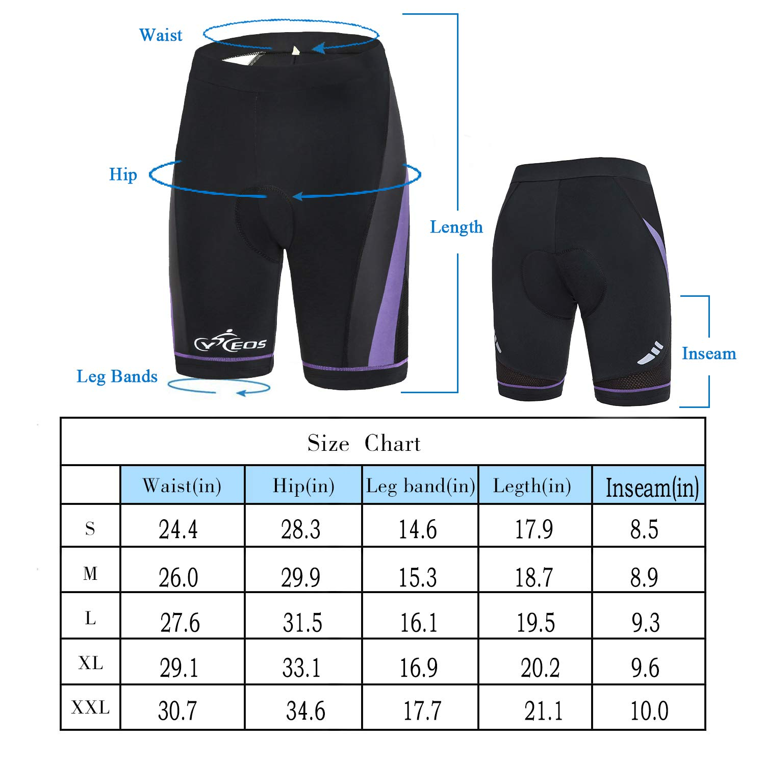 CYCEOS Womens Cycling Shorts with 4D Gel Padded Breathable Women Bike Shorts Biker Pants for Outdoor Biking Riding